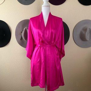 Victoria's Secret Fuchsia Silky Robe